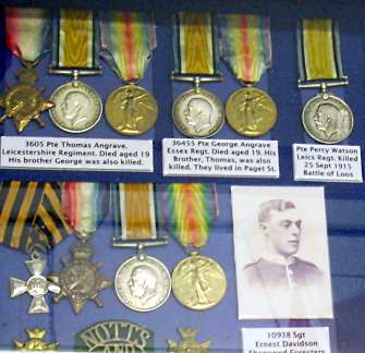 Part of the medal display